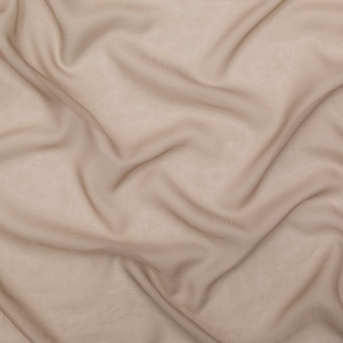 British Imported Fawn Wrinkled Drapery Sheer