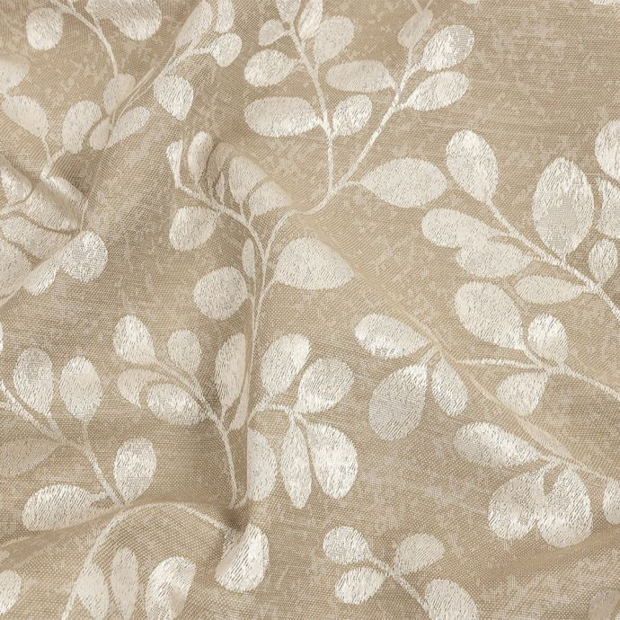 British Imported Fawn Pussy Willow Jacquard