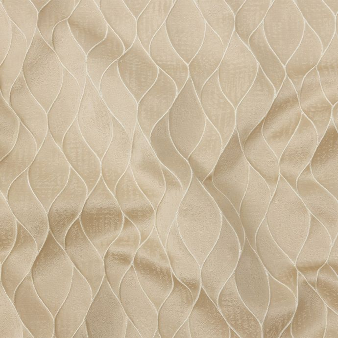 British Imported Champagne Leafy Silhouettes Polyester Jacquard