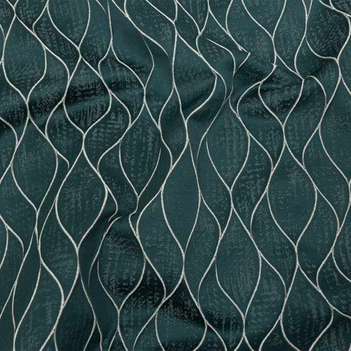 British Imported Emerald Leafy Silhouettes Polyester Jacquard