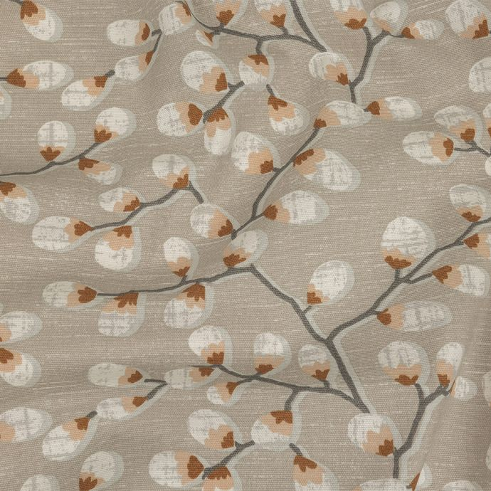 British Imported Rust Prairie Willows Printed Cotton Canvas