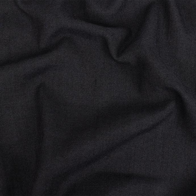 British Imported Ebony Polyester, Viscose and Linen Woven