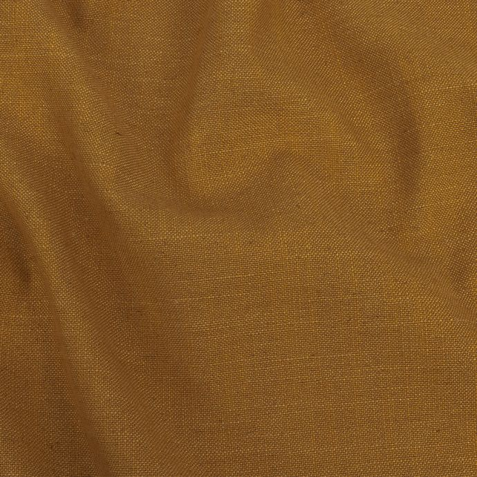 British Imported Ochre Polyester, Viscose and Linen Woven