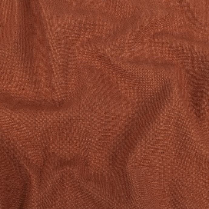 British Imported Rust Polyester, Viscose and Linen Woven