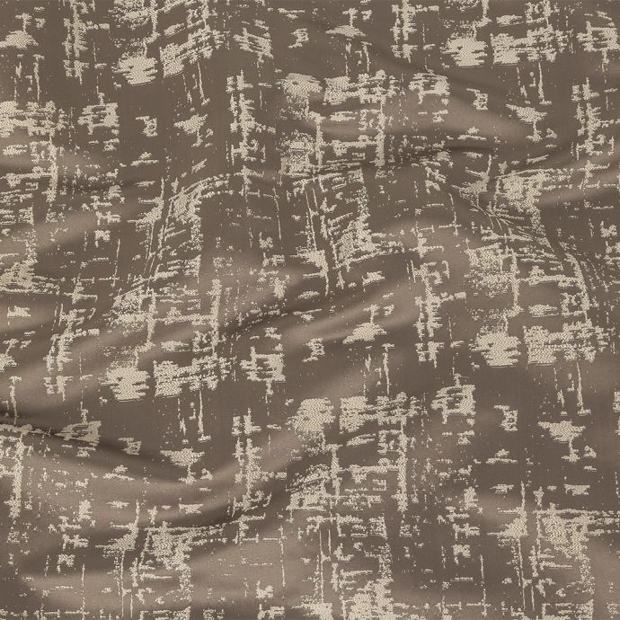 British Imported Graphite Satin-Faced Abstract Drapery Jacquard