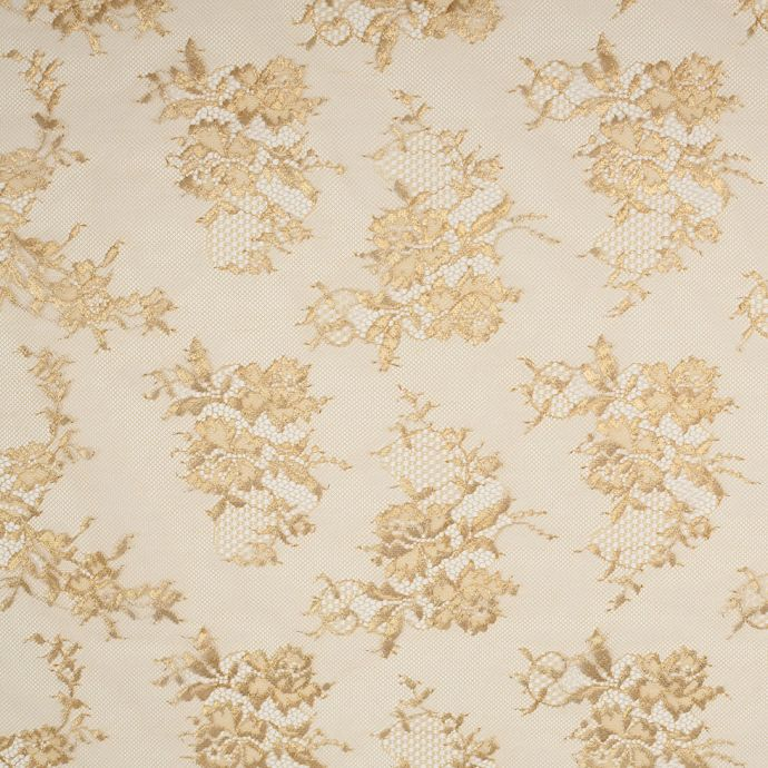Metallic Gold Floral Lace