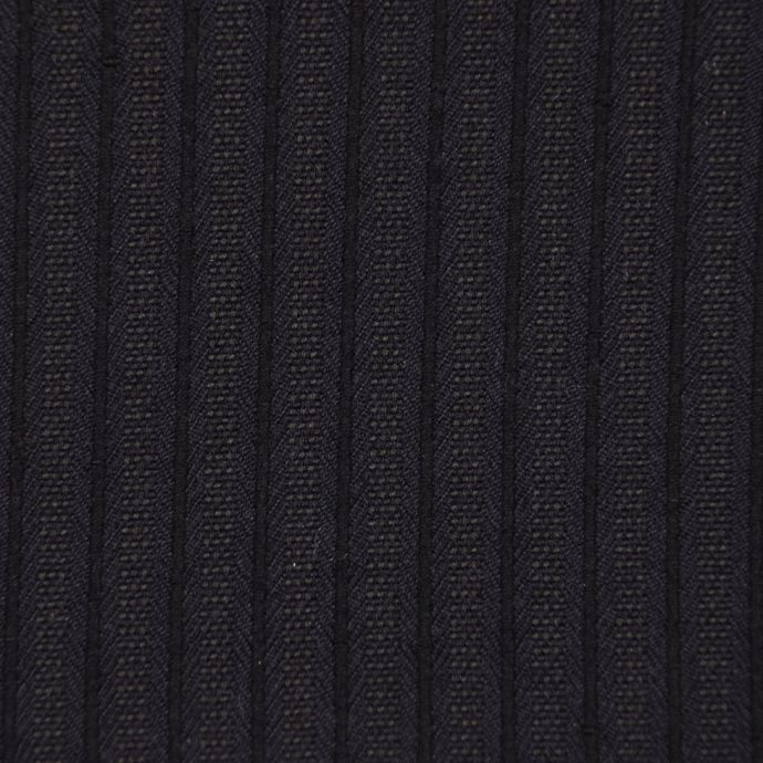 Famous NYC Designer Navy/Black Striped Japanese Wool Suiting