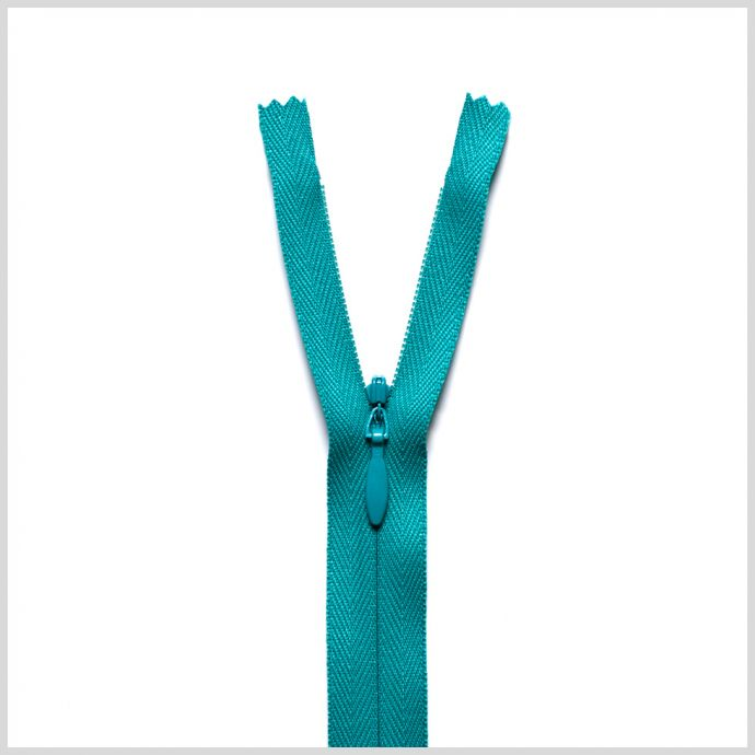539 Turquoise 9 Invisible Zipper