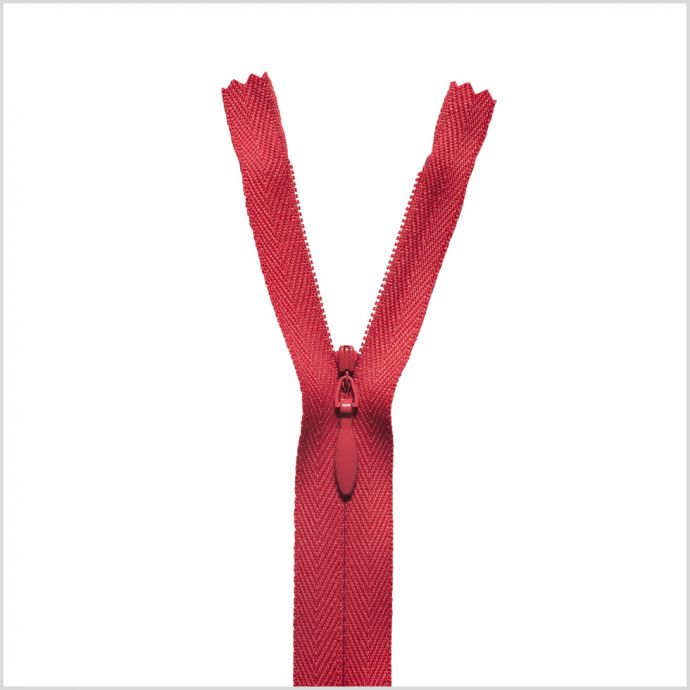 818 Red 9 Invisible Zipper