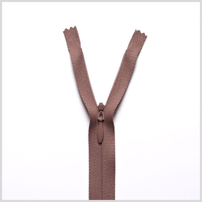 854 Brown Olive 9 Invisible Zipper