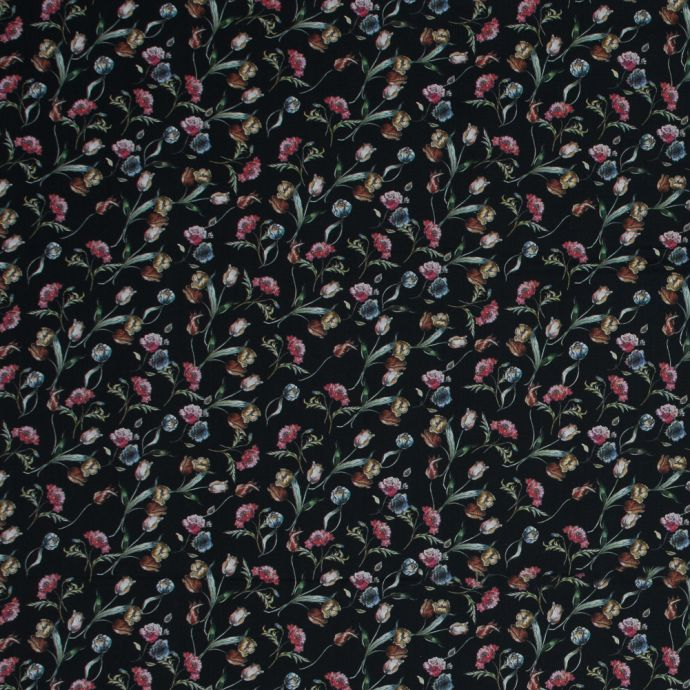 Mood Exclusive Peonies at Midnight Cotton Voile