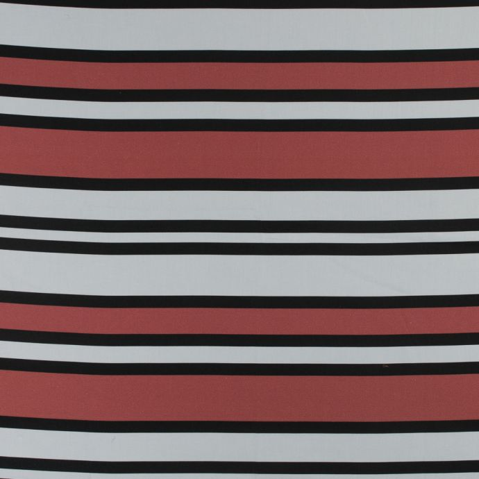 Mood Exclusive Coral Red Aina Stripe Stretch Cotton Sateen