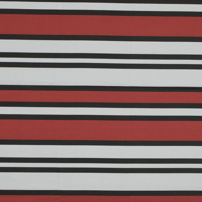 Mood Exclusive Red Aina Stripe Stretch Cotton Sateen