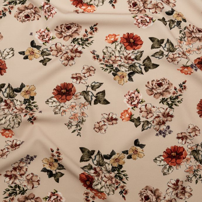 Mood Exclusive Passive Petals Stretch Polyester Crepe