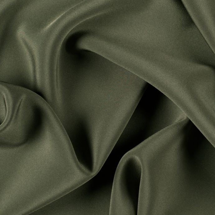 Olive Green Silk 4-Ply Crepe