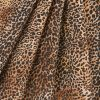 Brown/Black Cheetah Printed Micro-Polyester and Cotton - Folded