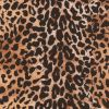 Brown/Black Cheetah Printed Micro-Polyester and Cotton - Detail