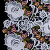 White Floral Embroidered Guipure Lace