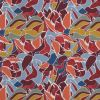 Blue and Orange Abstract Digitally Printed Cotton and Tencel Woven