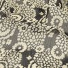Famous NYC Designer Pewter and Bone White Abstracted Floral Crinkled Silk Chiffon - Detail