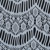 White Crochet Lace with Eyelash and All-over Scallop Design - Detail