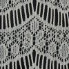 Natural Crochet Lace with Eyelash and All-over Scallop Design - Detail