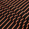 Black and Neon Orange Striped Hacci Baby Knit - Folded