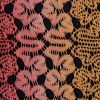 Hot Coral and Pale Marigold Ombre Raschel Lace - Detail
