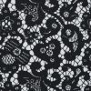 Black and White Floral and Paisley Lace Printed Cotton Shirting - Detail
