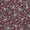 Famous NYC Designer Wine Paisley Silk and Cotton Voile