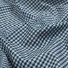 Green, White and Blue Tattersall Shepherd's Check Cotton and Tencel Flannel - Detail