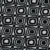 Black and Ivory Geometric Polyester Crepe - Detail