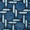 Blue Chainlink Waxed Cotton African Print - Detail