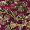 Pink and Mustard Waxed Cotton African Print decorated with Gold Metallic Foil - Folded