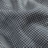 Black and White Houndstooth Linen Woven - Detail