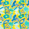 Blue and Yellow Emojis UV Protective Compression Tricot with Aloe Vera Microcapsules