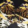 Italian Black, Yellow and Violet Large-Scale Butterfly Digitally Printed Silk Charmeuse