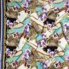 Italian Chains, Straps, Flora and Leopard Spots Digitally Printed Silk Charmeuse Panel - Full