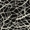 Luxury Off-White Thin Webbed Guipure Lace with Silver Glitter Topcoat - Detail