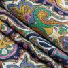 Mood Exclusive Multicolor Archway Arabesque Stretch Cotton Sateen - Folded