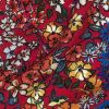 Mood Exclusive Ruby Pink Abounding Blossoms Viscose Twill - Detail