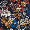Mood Exclusive Maritime Blue Abounding Blossoms Viscose Twill - Detail