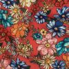 Mood Exclusive Coral Pink Blossomed Detonation Viscose Twill - Detail