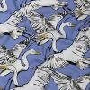 Mood Exclusive Soft Blue Fowl Weather Friends Rayon Batiste