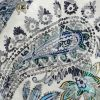 Mood Exclusive Navy Memorable Motifs Printed Stretch Floral Jacquard - Detail