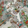 Mood Exclusive Teal and Saffron Precious Paisleys Printed Stretch Floral Jacquard - Detail