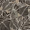 Mood Exclusive Beige Feathers and Fronds Stretch Brushed Cotton Twill