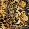 Leopard and Floral Border Printed Stretch Polyester and Spandex Knit Jersey - Detail