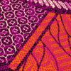 Brown and Orange Abstract Patchwork Cotton Osikani African Print with Fuchsia Metallic Foil - Detail