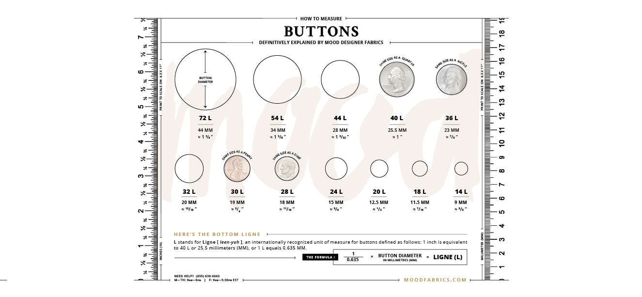 Button Size Chart